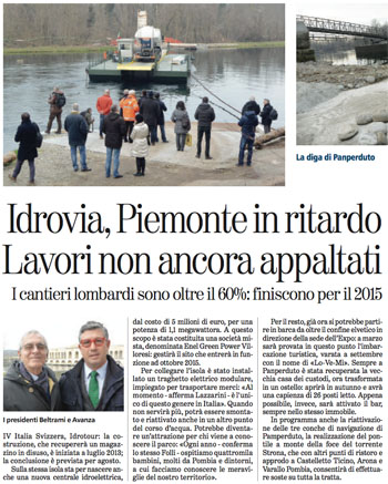 Article in La Stampa