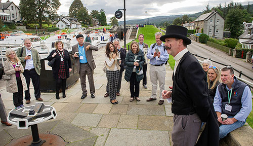 WCC delegates step back into history to hear engineer Thomas Telford (or was it William Jessop?) explain how the Caledonian Canal was designed and built