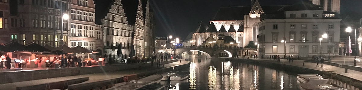 Ghent night scene