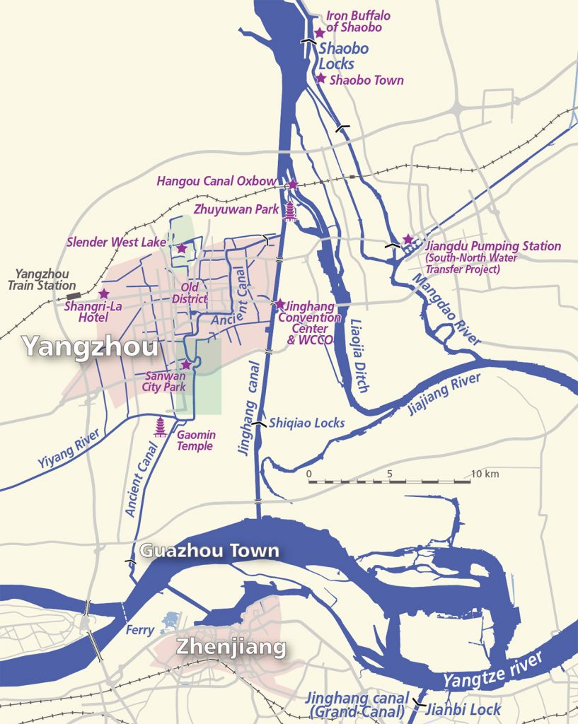 Yangzhou waterways map